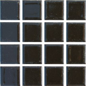 Waxman CG-890 Gloss Black - Ceramic Pool Tiles - 10 Sheet Pack